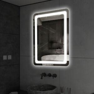 Modern 50x70cm Fog Free Bathroom Mirror Led Lighted