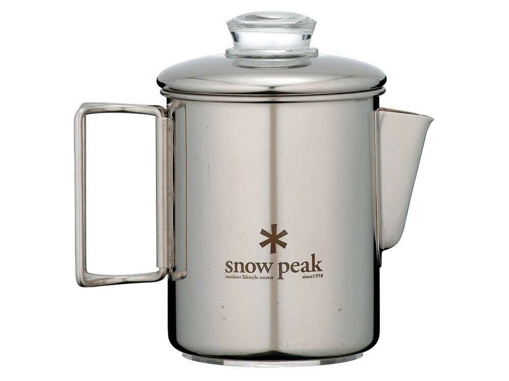 Snow Peak Stainless Steel Percolator 6 Cups PR-006 Cookware With Tracking