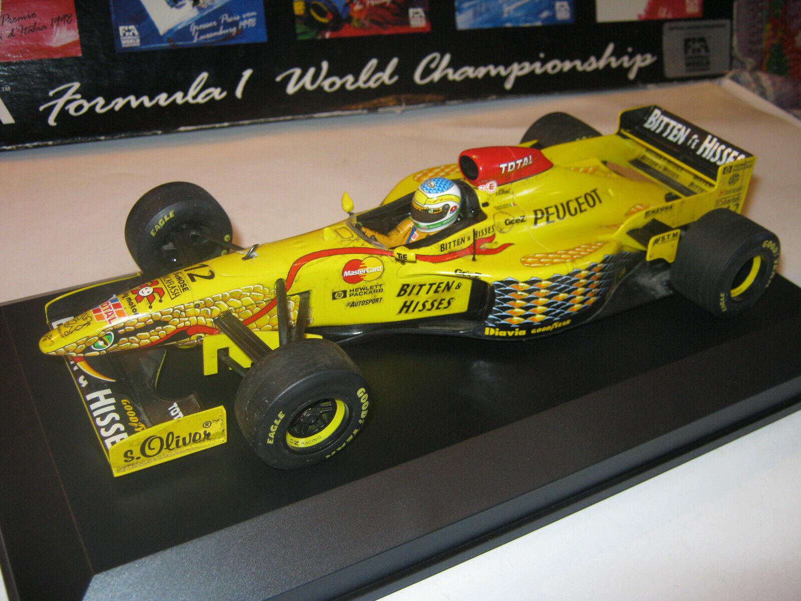 1 18 jordan peugeot 197 G. fisichella 1997 Minichamps en Brandnew Showcase Top