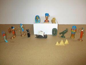 "13 Ancient Egyptian Safari Ltd Figures Nefertiti Sphinx Pyramid approx 2.5"""