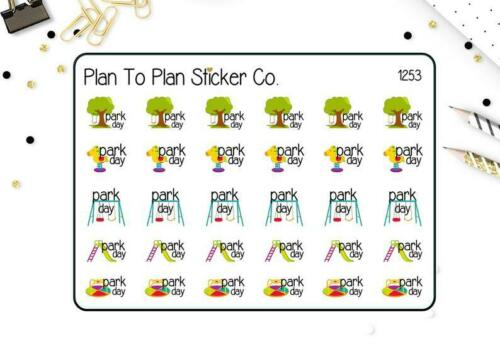 1253~~Park Day Planner Stickers.
