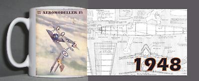 Adattabile Aeromodeller Vintage Mug 1948 Design-mostra Il Titolo Originale Vendite Economiche 50%