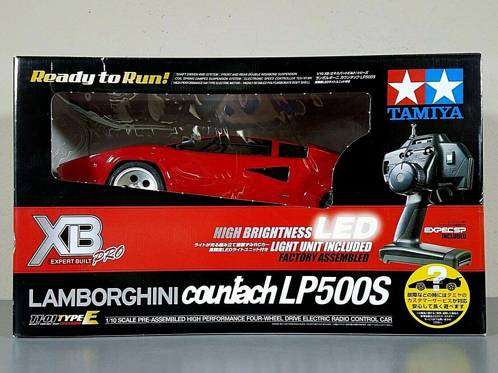 Rare New Tamiya 1 10 RC Red Lamborghini Countach LP500S XB Expert Build