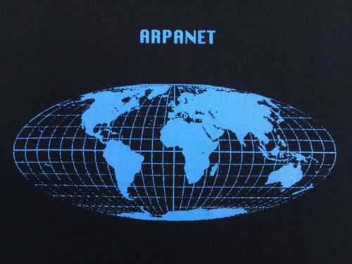 ARPANET WIRELSS INTERNET T-SHIRT RECORD MAKERS DREXCIYA GERALD DONALD REPHLEX