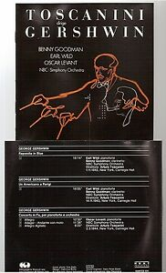 TOSCANINI-dirige-gershwin-CD-ALBUM-nbc-simph-orch-HUNTCD-534-benny-goodman
