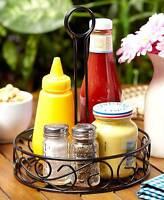 Black Scroll Tabletop Condiment Caddy - Condiment Holder - Bbq Entertaining