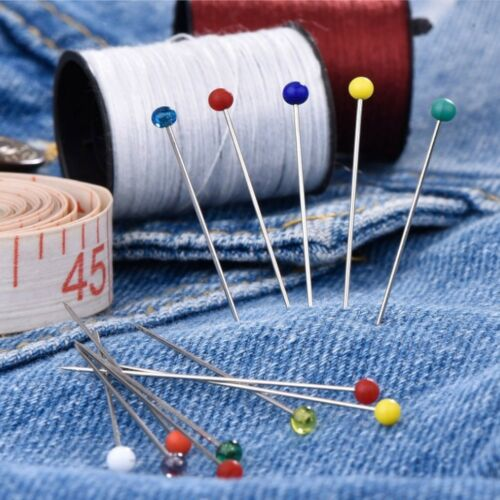 100stk Dressmaking Sewing Pin Straight Pins Round Head Color Corsage TOP