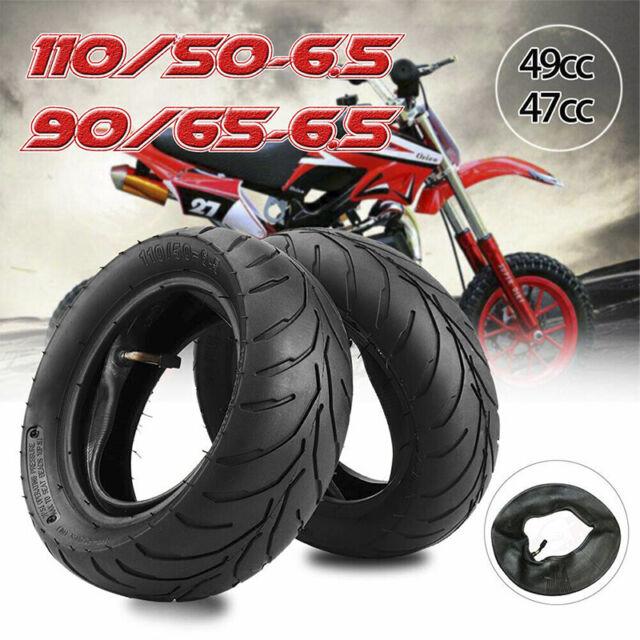 Front Rear Tire + Inner Tube 90/65/6.5 110/50/6.5 For 47cc 49cc Pocket Bike G$