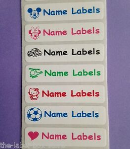 25-Stick-on-Children-School-Name-Labels-Nursing-Home-Personalised-Stickers-Tags