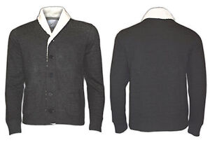 Mens-True-Face-Designer-Multi-Pockets-Fur-Collared-Jacket-Top-Coat-Cardigan