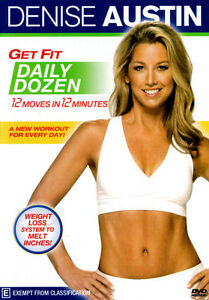 DENISE AUSTIN Get Fit Daily Dozen NEW DVD 12 moves minutes workout weight loss
