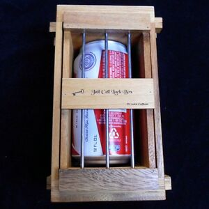Secret Lock Box Iii Jail Cell Puzzle Box Holds Beer Can Cell