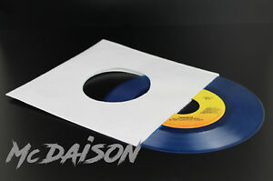 McDAISON-100-PEZZI-COPERTINA-STANDARD-forata-BIANCA-x-dischi-vinile-45-GIRI-7-034