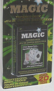 4 MAGIC PLAYING CARDS TRICK MARKED GAME NOVELTY DECKS 20 TRICKS C MY OTHER ITEMS