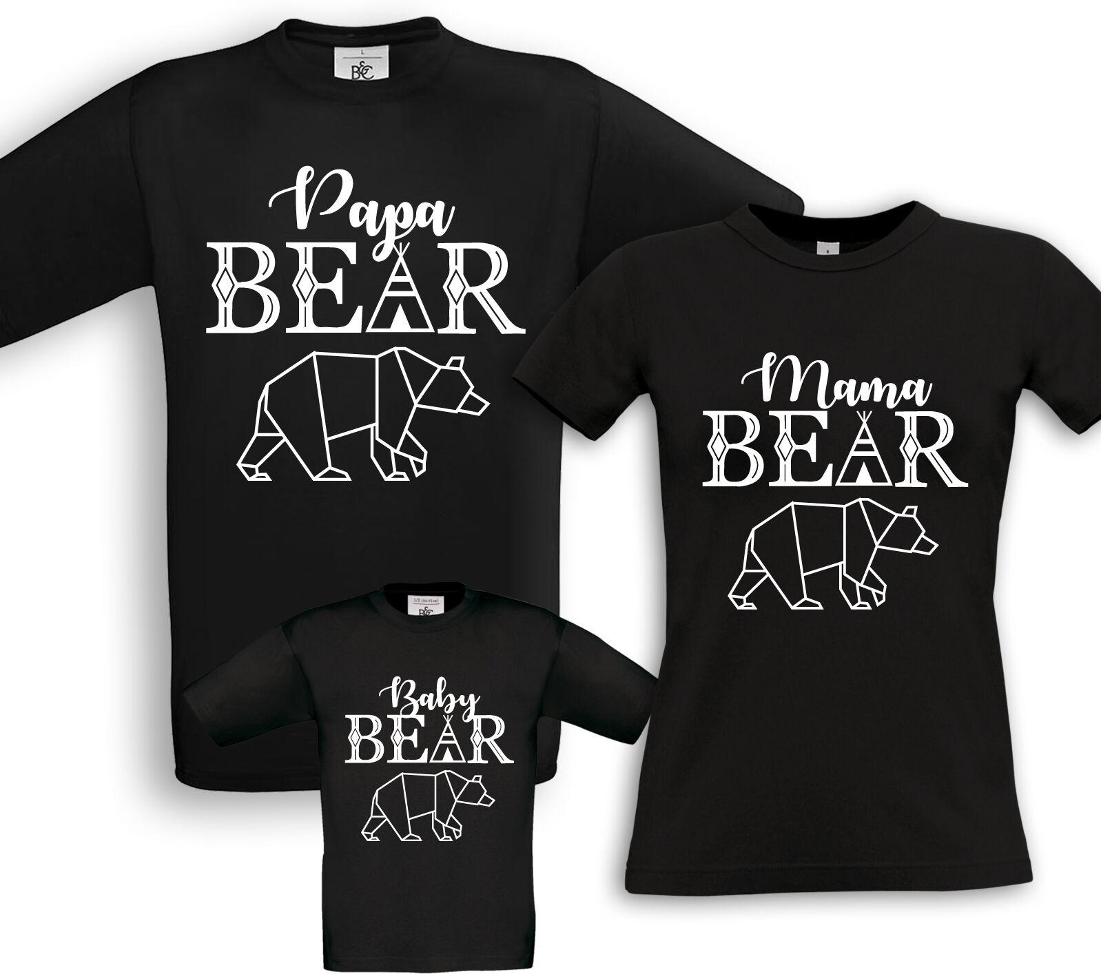 Family Bear-famiglie partner shirts-FUN COMPLEANNO BATTESIMO REGALO papà mamma