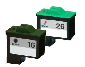 For-Lexmark-16-26-Ink-Cartridge-10N0016-10N0026-For-X75-X1185-X2250-X1150-2PK