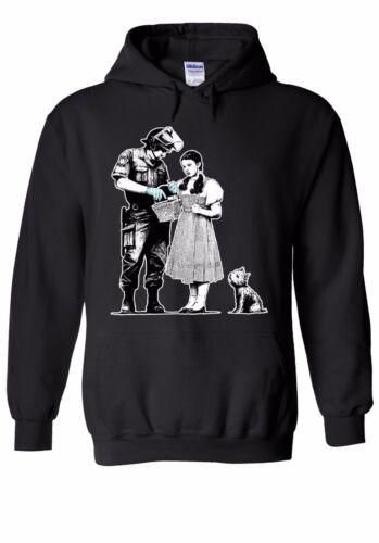 Banksy Stop And Search Street Art Men Women Unisex Top Hoodie Sweatshirt 1782E