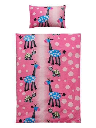 Kinder Baby Bettwäsche 100x135 40x60 cm mit Reißverschluss für Jungen /& Mädchen