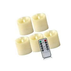 """SaferCCTV 3 x 4"""" Flameless Candle, Remote Control Candles, 5 Pack LED Flamele..."""