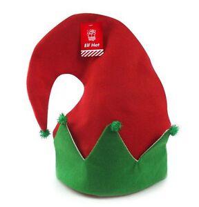 santa elf hat red green christmas hat with pom pom unisex xmas