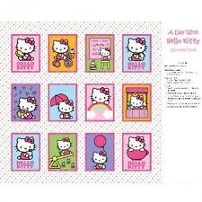 Sale Hello Kitty Nursery Softbook Panel 100% Cotton Fabric Patchwork