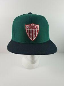 Vintage-Liga-MX-Club-Necaxa-Aguascalientes-Green-Black-Strapback-Cap-Hat-Wool