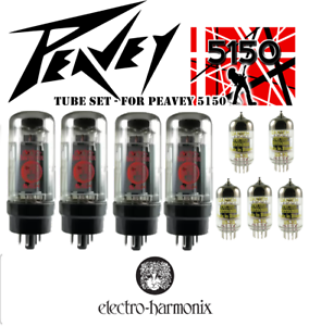 Tube Set Peavey 5150 guitar amp Electro Harmonix  EH vacuum valve tubes
