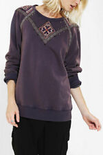 133196 New Ecote Urban Outfitters Studded Sweatshirt Embellished Sweater Top XS