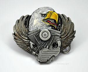 Adler Biker adorno en la cintura motocicleta Twin Buckle Harley-motor-motivo * 098