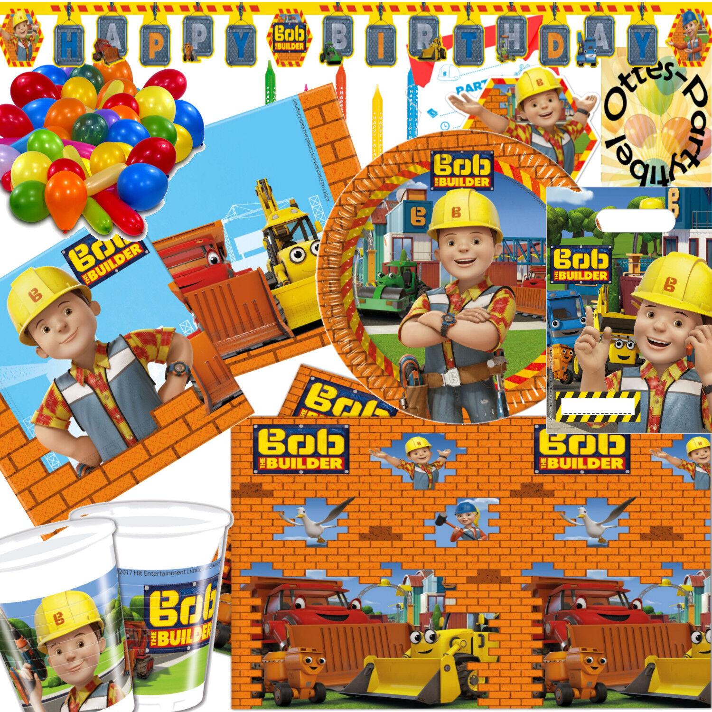 Bob der Baumeister Megapaket Geburtstag Partyset 99 Teile  für 12 Kinder