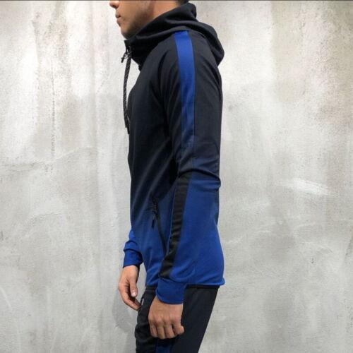 Men/'s Full Zip Up Hoodie Classic Hooded Zipper Sweatshirt Warm Jacket Coat Tops