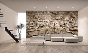 Thai style angel statue wall mural photo wallpaper giant for Poster mural 4 murs