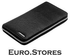 Mercedes-Benz AMG Carbon Leather Travel Wallet Handmade B66959921 Genuine New