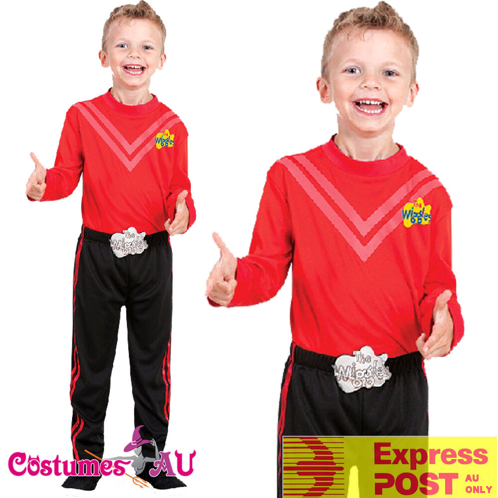 Deluxe Simon Red The Wiggles Child Boys Kids Book Week Party Dress Up Costume