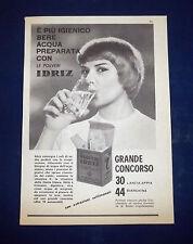 A074-Advertising Pubblicità-1959-LE POLVERI IDRIZ - SALI DI IODIO