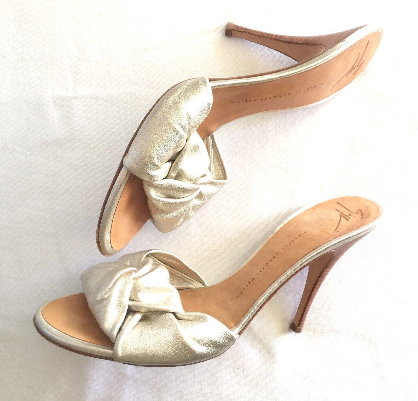 Giuseppe Zanotti gold Metallic Stiletto Heels Size 41