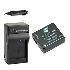 DSTE DMW-BLG10 DMW-BLG10E DMW-BLG10PP Battery + DC120 Travel and Car Charger ...