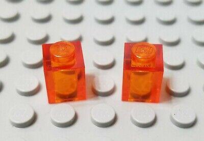 LEGO Lot of 10 Translucent Orange 1x1 Brick Cone Pieces