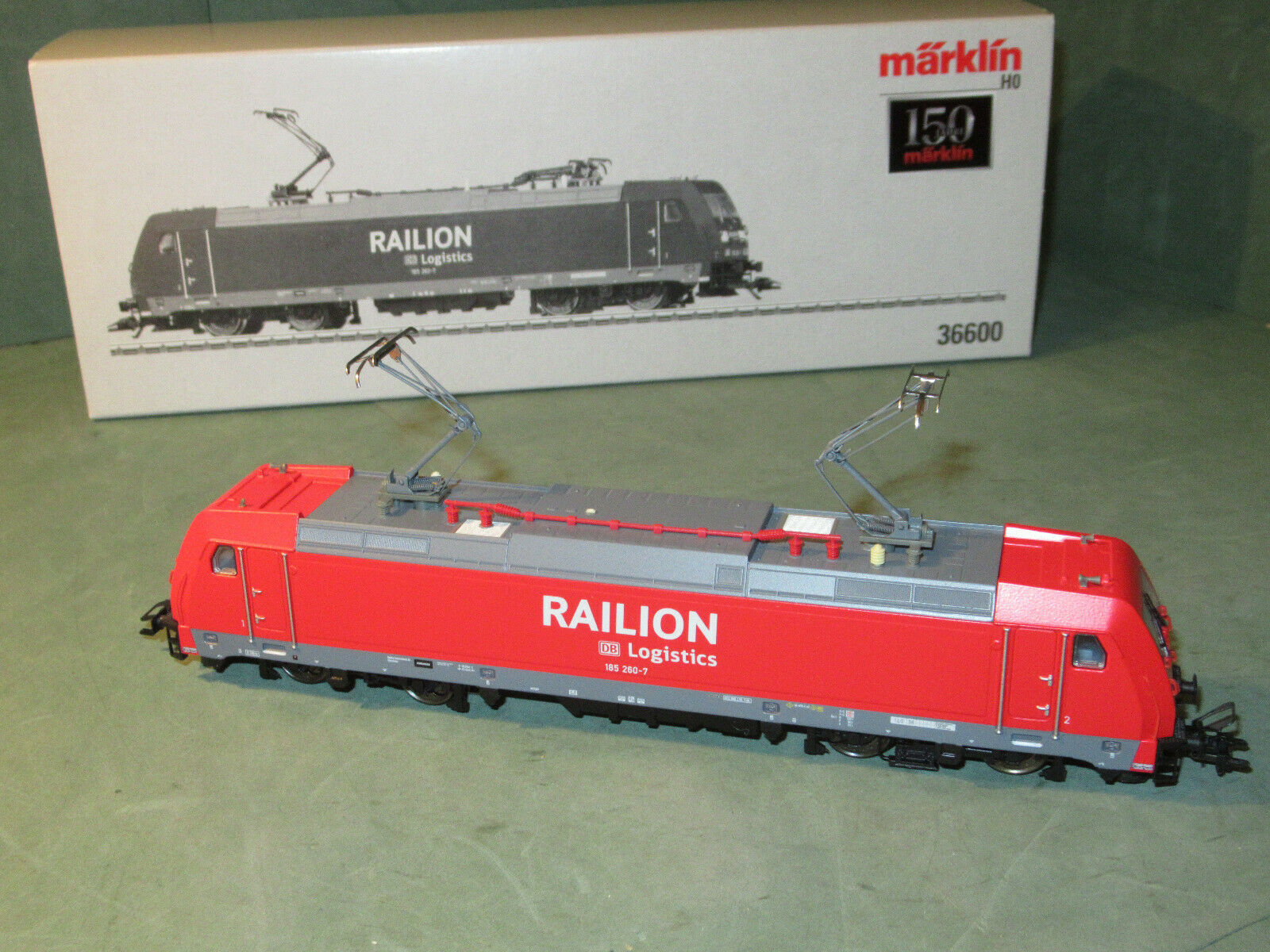 Märklin 36600 Railion E-Lok BR 185 260-7 DB AG   Digital   NEUWERTIG und in OVP