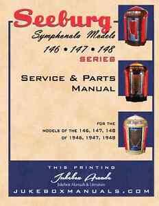 Details about Seeburg Symphonola Models 146, 147 148 Service and Parts  Manual / Jukebox Arcade