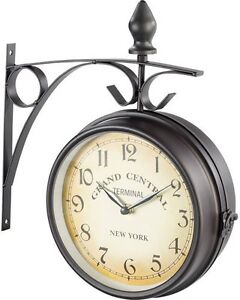 Horloge-de-gare-retro-double-face