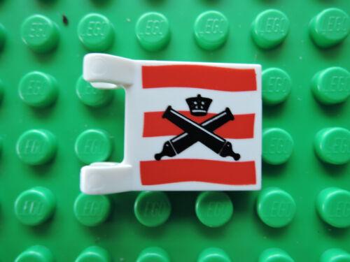 Lego 1 x Flagge Fahne 2335pb003 weiß  2x2 bedr Kanonen 6241 6253 6242