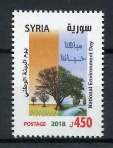 Siria-2018-estampillada-sin-montar-o-nunca-montada-Dia-Nacional-de-Medio-Ambiente-1v-Set-Arboles