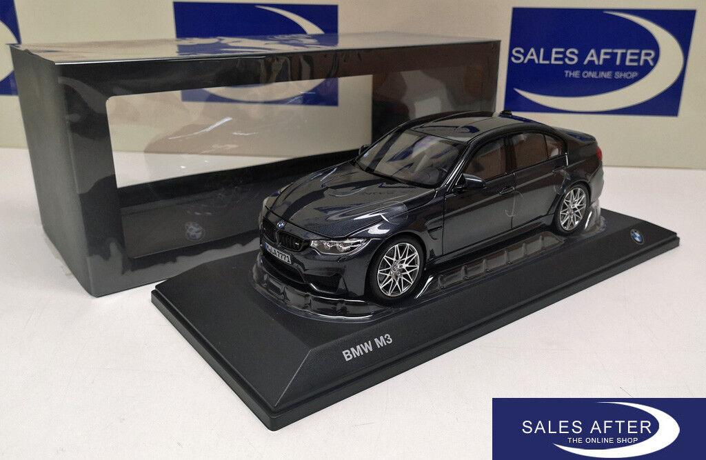Original bmw miniatura m3 f80 competition paquete mineralgrigio 1 18 modelo de coleccionista