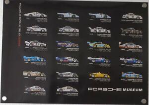 Porsche-Museo-24h-Daytona-Winner-Poster-Originale-Limitata-84-x-59-5-CM