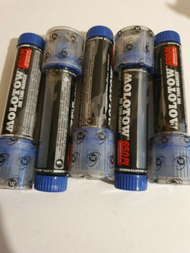 Blue Refillable 30mm tip Molotow 650 Permanent Ink Coversall Tank Marker Pen