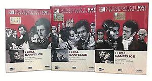 3-Dvd-Sceneggiati-Rai-LUISA-SANFELICE-di-L-Cortese-nuovo-completa-digipack-1966
