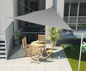 sonnensegel sonnenschutz sichtschutz markise beschattung garten 3x3x3m grau neu. Black Bedroom Furniture Sets. Home Design Ideas