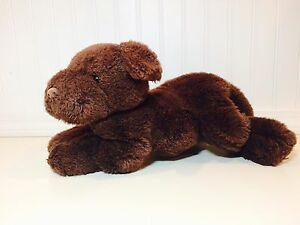 Gund Brown Chocolate Lab Puppy Dog 14 Plush Stuffed Animal Toy Euc