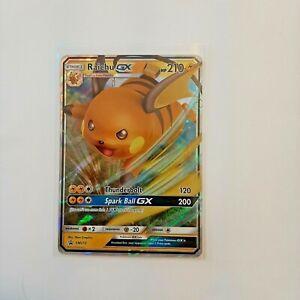 Pokemon-TCG-SM213-Raichu-GX-NM-M-Sun-amp-Moon-Black-Star-Promo-Holo